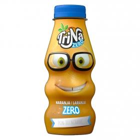 Refresco de naranja Trina zero sin gas botella 27,5 cl.