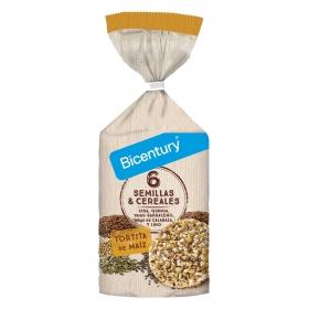 Tortitas de maíz 6 semillas y cereales Bicentury 120 g.