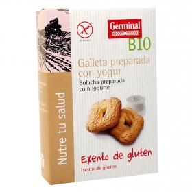 Galletas preparadas con yogur ecológicas Germinal Bio sin gluten 250 g.