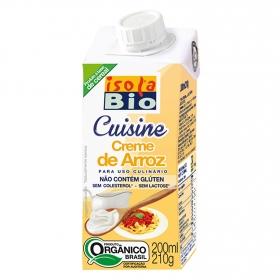 Crema de arroz para cocinar ecológica Isola Bio brik 200 ml.