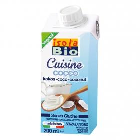 Crema de coco ecológica Isola Bio sin gluten sin lactosa brik 200 ml.