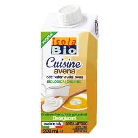 Crema de avena ecológica Isola Bio sin lactosa brik 200 ml.