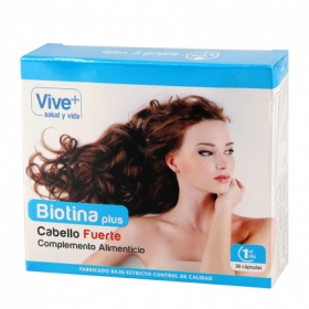 Complemento alimenticio  Biotina plus Vive Plus 30 cápsulas