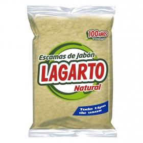 Detergente con jabón escamas marron Lagarto 250 g.