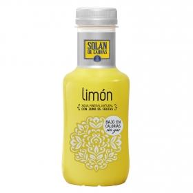 Agua mineral Solán de Cabras natural con zumo de limón 33 cl.
