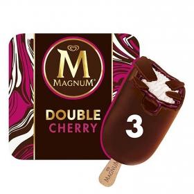 Bombón helado de cereza Double Magnum pack de 3 unidades de 73 g.