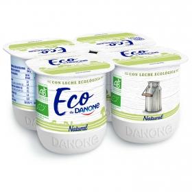 Yogur natural ecológico Danone pack de 4 unidades de 125 g.