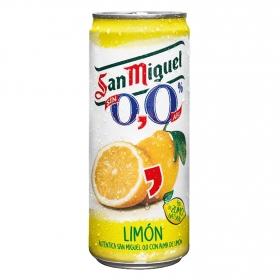 Cerveza sin alcohol con limón