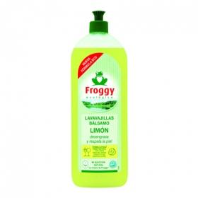 Lavavajillas a mano concentrado aroma limón ecológico Froggy 750 ml.