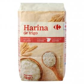 Harina de trigo Carrefour 1 kg.