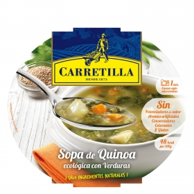 Sopa de quinoa ecológica con verduras