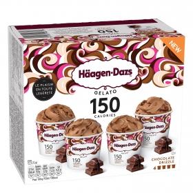 Helado de chocolate Drizzle Häagen Dazs pack 4 unidades de 72g.