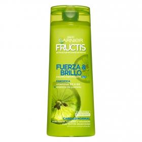 Champú fortificante Fuerza y Brillo 2 en 1 para cabello normal Garnier-Fructis 360 ml.