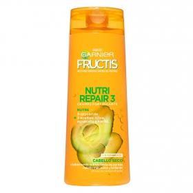 Champú fortificante Nutri Repair 3 para cabello seco Garnier-Fructis 360 ml.