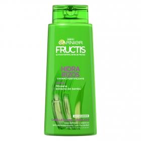 Champú fortificante Hidra Rizos para cabello rizado u ondulado Garnier-Fructis 700 ml.
