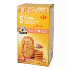 Galletas de desayuno con 5 cereales y leche