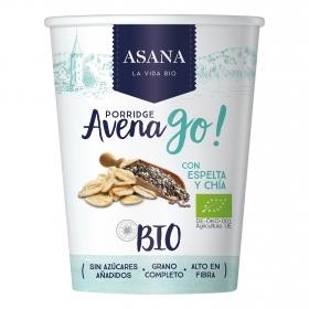 Cereales de avena con espelta y chia ecológicos Avena Go Asana 55 g.