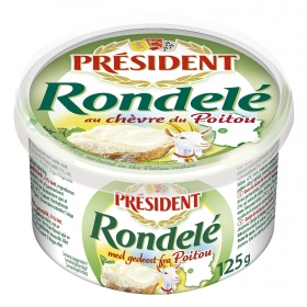 Mousse de queso de cabra President Rondelé 125 g.
