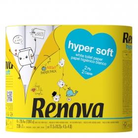 Papel higiénico doble rollo hyper soft Renova