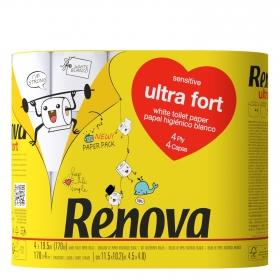 Papel higiénico cuatro capas ultra fort Renova