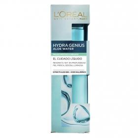 Cuidado líquido Hydra Genius Aloe Water para pieles mixtas a grasas L'Oréal Skin Expert 75 ml.