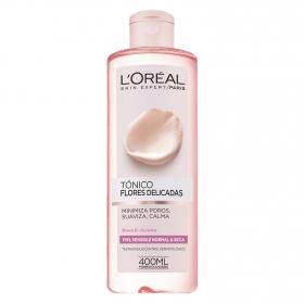 Tónico Flores Delicadas para piel sensible normal a seca L'Oréal Skin Expert 400 ml.