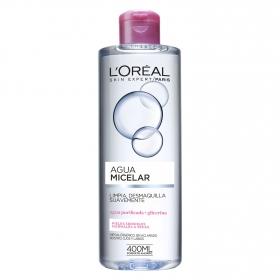 Agua micelar suave para pieles sensibles normales a secas L'Oréal Skin Expert 400 ml.