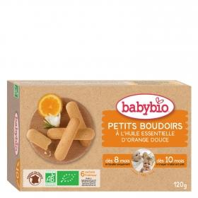 Galleta de naranja para bebé ecológica Babybio 120 g.