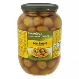 Aceitunas gazpacha con hueso Carrefour 500 g.