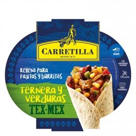 Relleno para burrito y fajitas de ternera y verduras