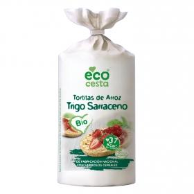 Tortitas de arroz y trigo sarraceno ecológicas Ecocesta 100 g.
