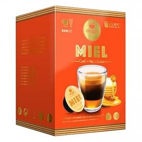 Café con miel natural en cápsulas Origen & Sensations compatible con Dolce Gusto 10 ud.