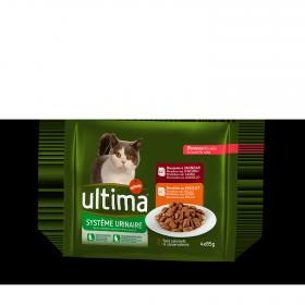 Ultima Comida Húmeda para Gato Adulto Tracto Urinario Sabor pollo 4x85gr.