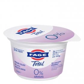 Yogur griego desnatado 0% sin azúcar añadido Fage 170 g.