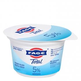 Yogur griego 5% grasa sin azúcar añadido Fage 170 g.