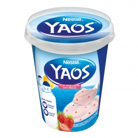 Yogur griego con fresa Nestlé Yaos 450 g.