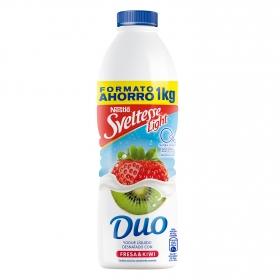 Yogur desnatado líquido con fresa y kiwi Nestlé Sveltesse 1 kg.