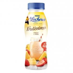 Yogur líquido de fresa y piña Frutissimo Nestlé La Lechera 330 g.