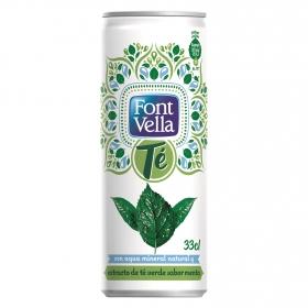 Agua mineral natural y extracto de té verde sabor menta