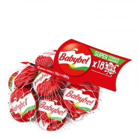 Mini quesitos Babybel pack de 18 unidades de 20 g.