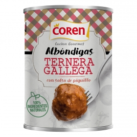 Albóndigas de carne gallega con salsa piquillo Coren 425 g.