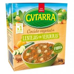 Cocido vegetal de lentejas con verduras Gvtarra 340 g.