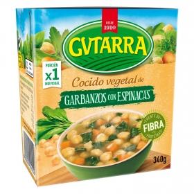 Cocido vegetal de garbanzos con espinacas Gvtarra 340 g.