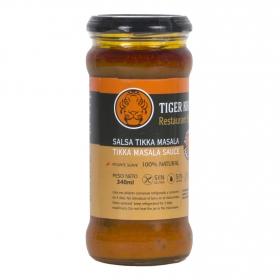 Salsa tikka masala picante suave Tiger Khan sin gluten 340 ml.