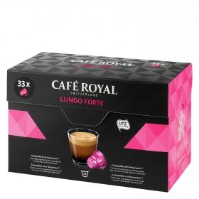Café lungo forte en cápsulas Royal compatible con Nespresso 33 unidades de 5,48 g.