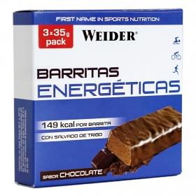 Barritas de energéticas sabor chocolate