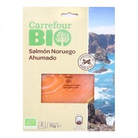 Salmón ahumado noruego ecológico Carrefour Bio 75 g.