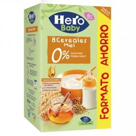 Papilla infantil desde 6 meses de 3 cereales con miel sin azúcar añadido Baby Hero sin lactosa 280 g.