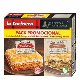 Lasaña de champiñones y boletus La Cocinera 1 kg.