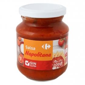 Salsa napolitana Carrefour sin gluten tarro 300 g.